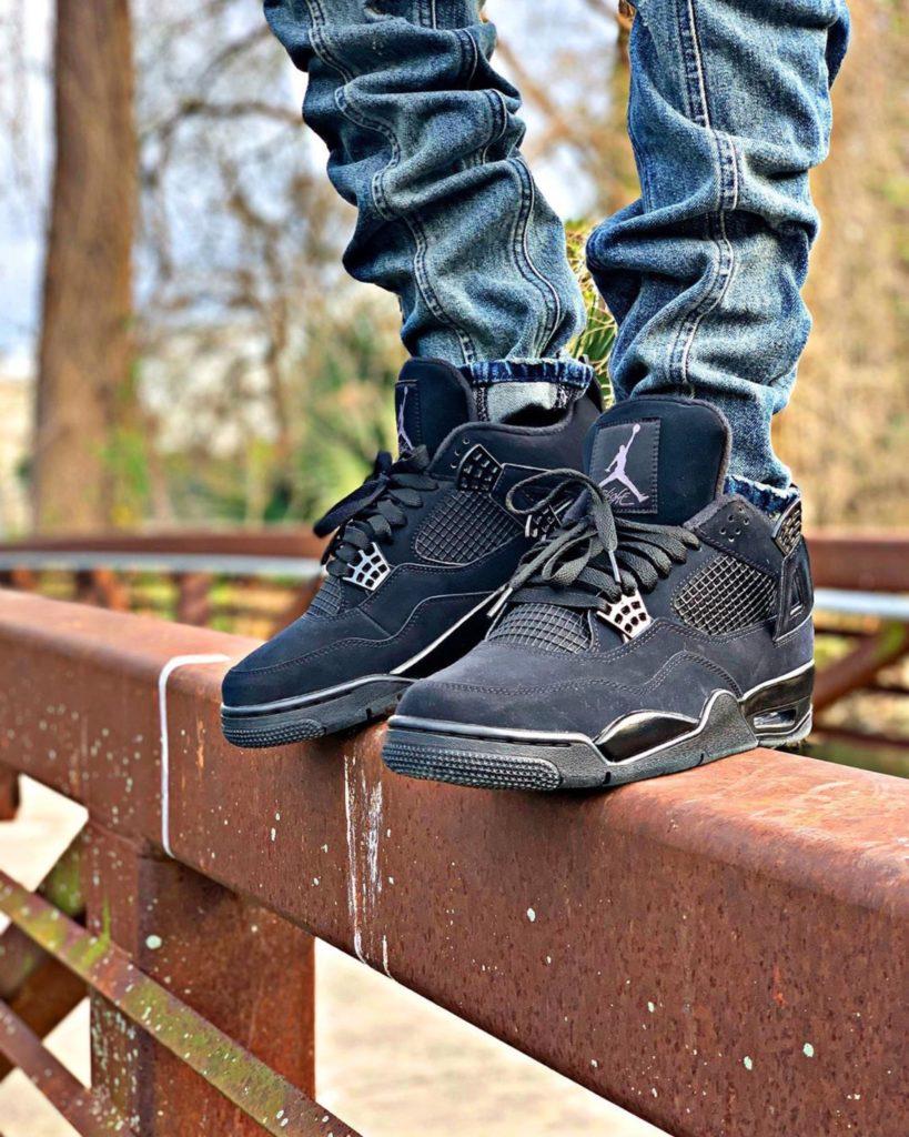 Air Jordan Black Cat on feet @jayy_banks