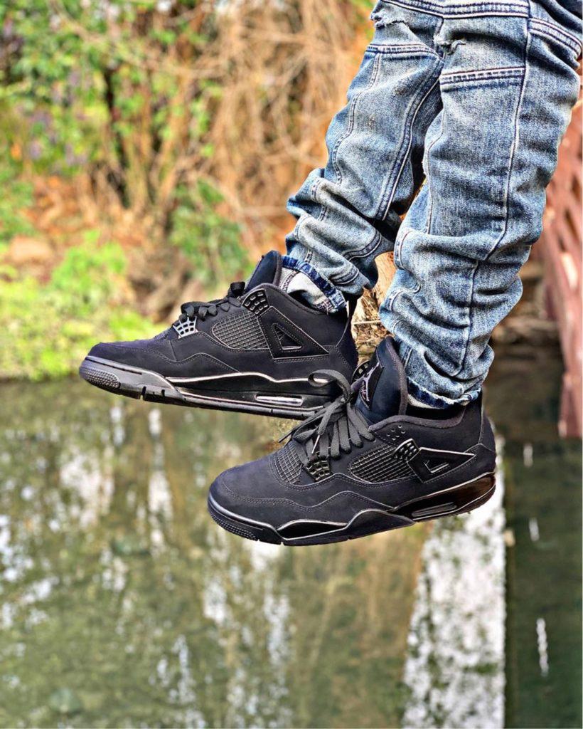 "Air Jordan On feet ""Black Cat"" @jayy_banks"