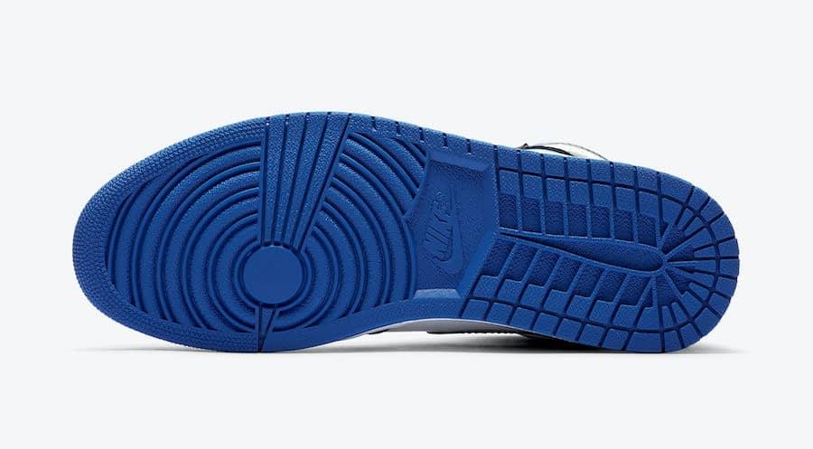 Air Jordan 1 High OG Black Game Royal sole