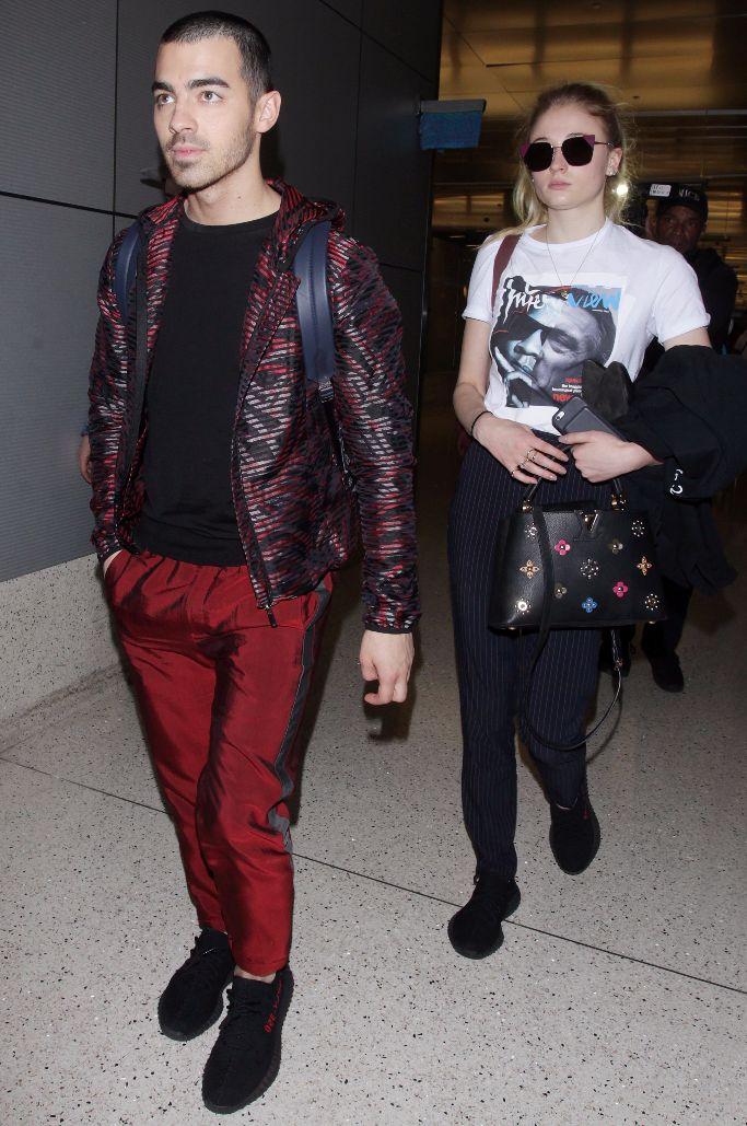 Joe Jonas and Sophie Turner In Yeezys