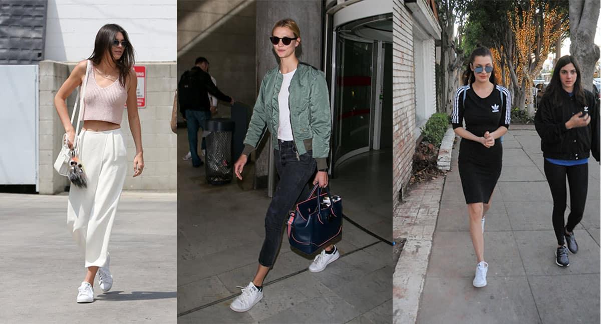 Kendall Jenner, Karlie Kloss, Bella Hadid in Adidas Stan Smiths