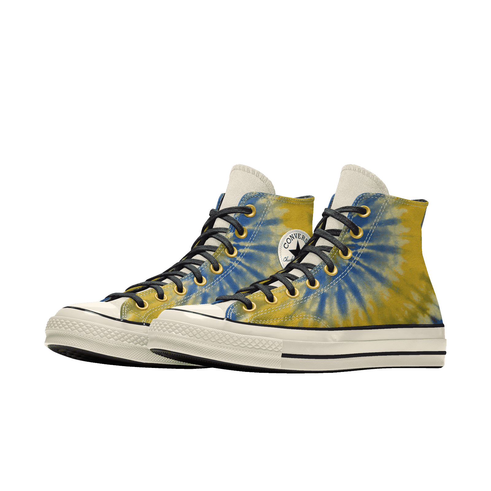 Millie Bobby Brown Converse Blue and Yellow