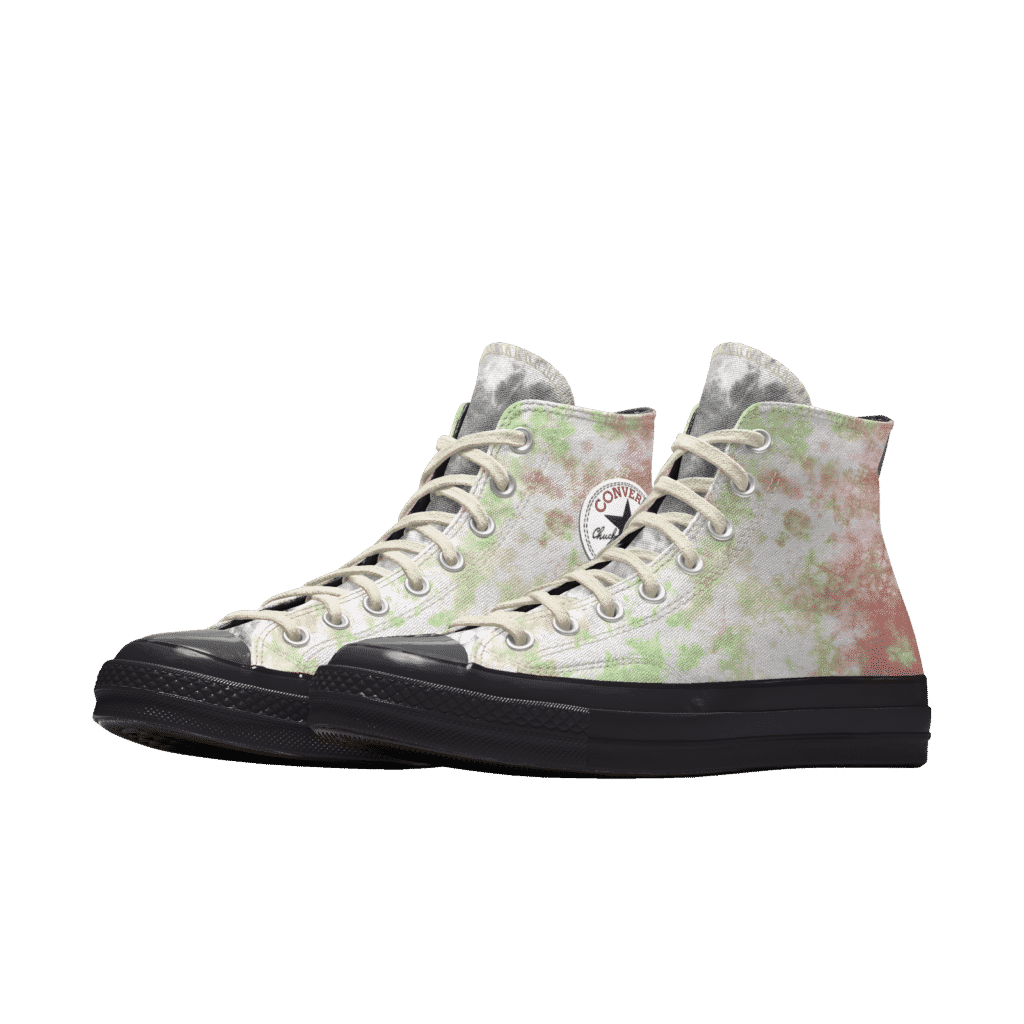 Millie Bobby Brown Converse Pink and Green