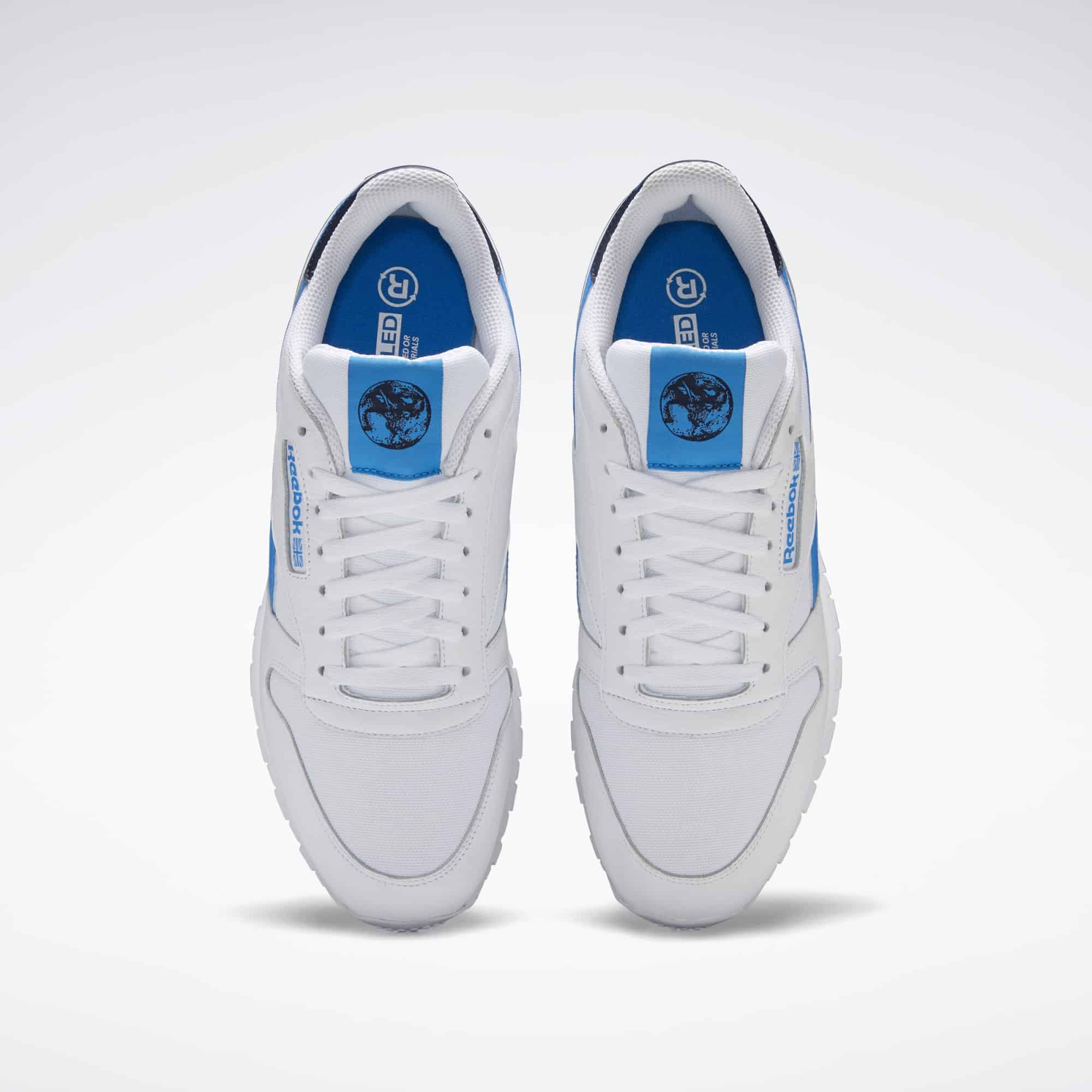 Recycled Classic Leather Reebok White and Blue