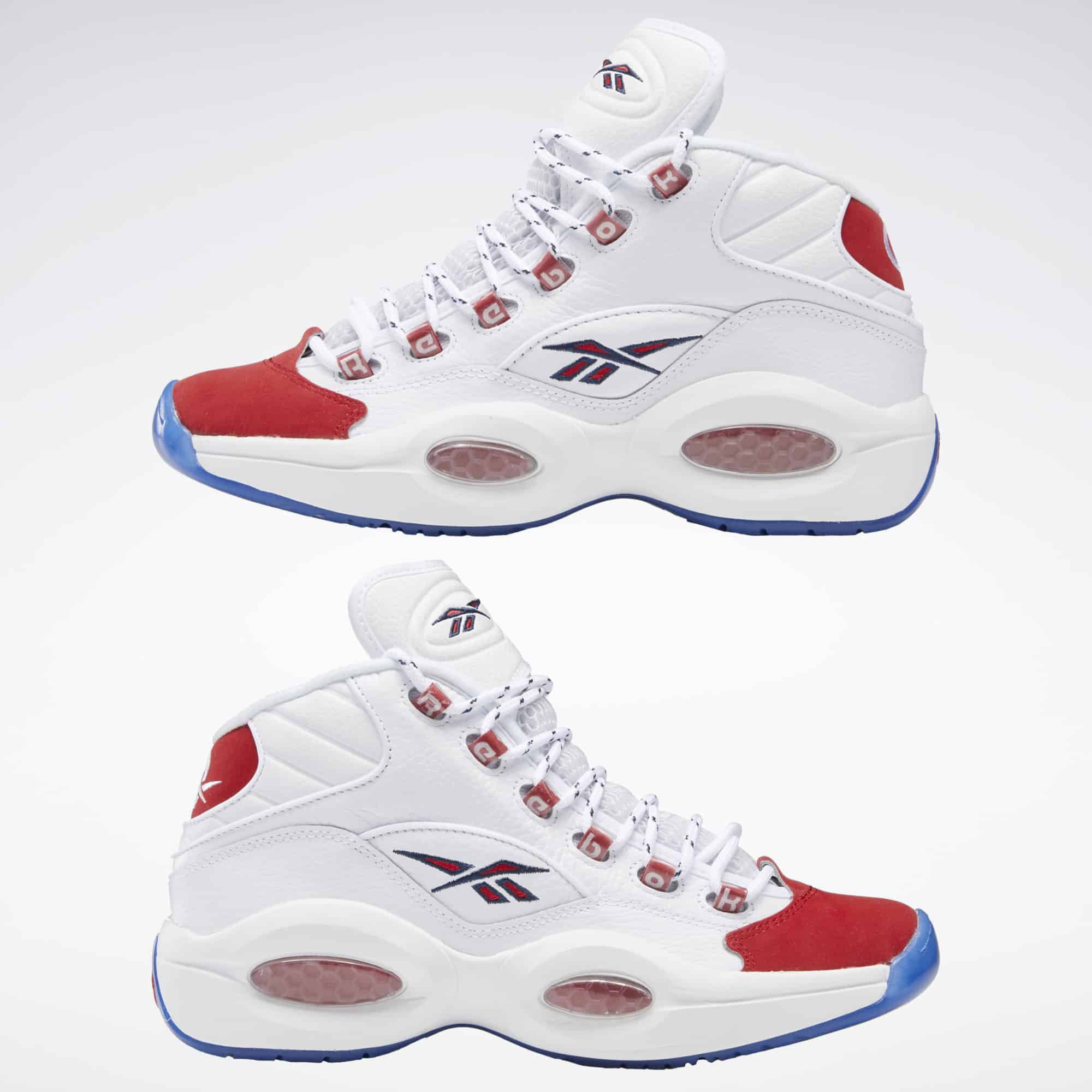Reebok Question Mid Red Toe