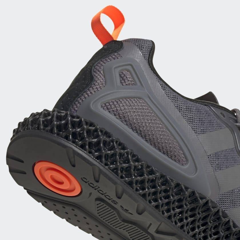 Adidas ZX 2K 4D Grey Orange heel