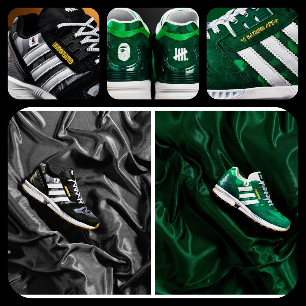 adidas zx8000 bape x undefeated x adidas collab collage