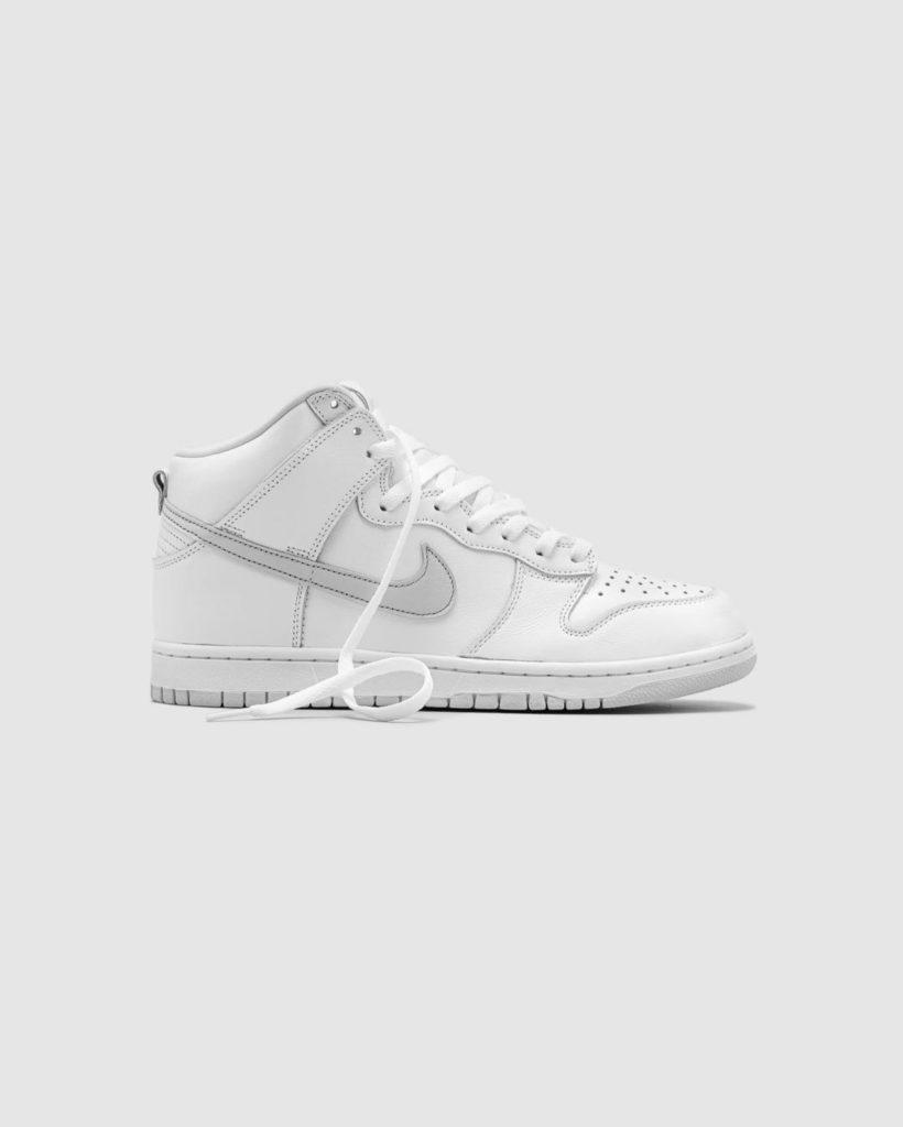 Nike sb high pure platinum side view