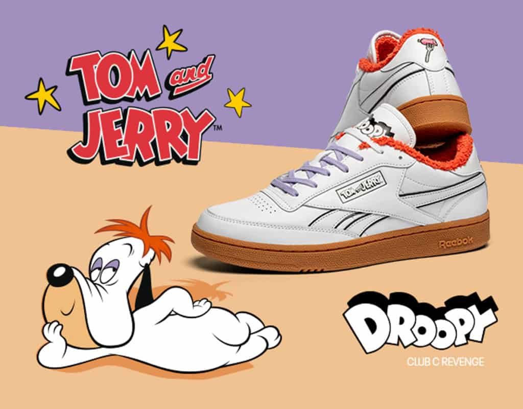 Droopy Tom and Jerry Reebok