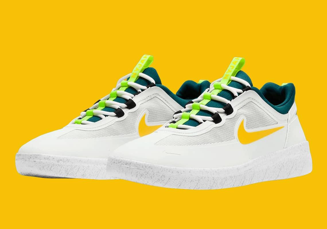 Nike SB Nyjah Free 2 Volt Spruce Lime Skate Shoes
