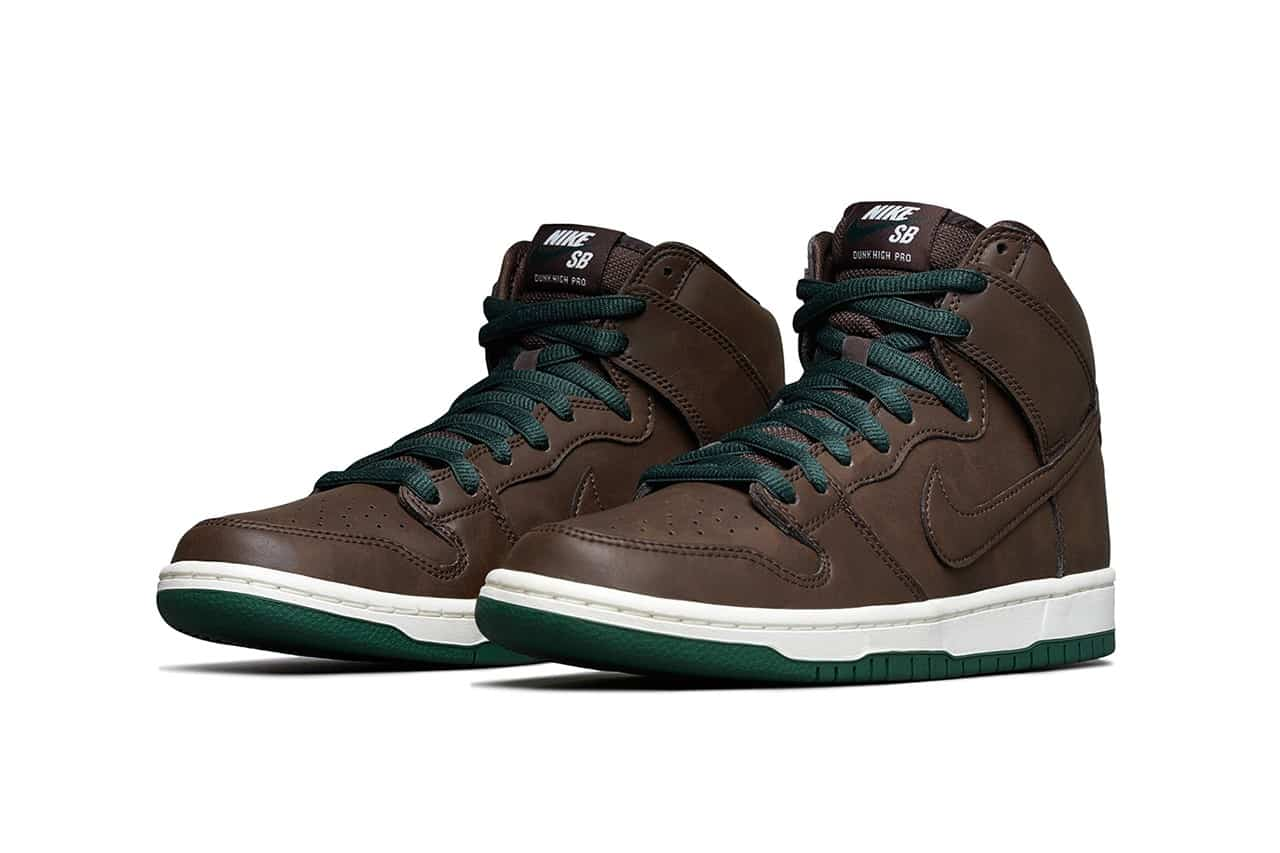 SB Dunk High Vegan Leather Baroque Brown Skate Shoes